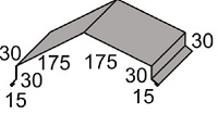 Luxmetall Winkelfirst Nr.26 f�r LM D-20/138, 35/207 und 18/76
