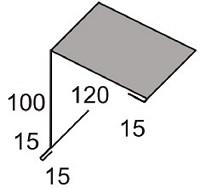 Luxmetall Pultabschluss Nr. 22 f�r LM D-20/138, 35/207 und 18/76