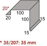 Luxmetall Ortgang Nr. 24 f�r LM D-20/138 und 35/207