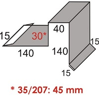 Luxmetall Ortgang Nr. 14 f�r LM D-20/138, 35/207 und 18/76