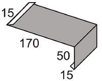 Luxmetall Traufkappe Nr. 20 f�r LM D-20/138, 35/207 und 18/76