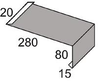 Luxmetall Traufkappe Nr. 11 für LM D-20/138, 35/207 und 18/76