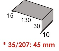 Luxmetall Windleitblech f�r LM D-20/138, 35/207 und 18/76