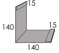 Luxmetall Aussenecke (Fassade) für LM D-20/138, 35/207 und 18/76