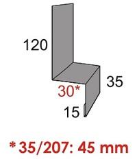 Luxmetall Tropfkante (Fassade) f�r LM D-20/138, 35/207 und 18/76