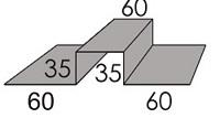 Luxmetall Verbindungslisene (Fassade) f�r LM D-20/138, 35/207 und 18/76
