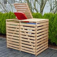 Holz M�lltonnenbox Vario V