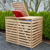 Holz Mülltonnenbox Vario V