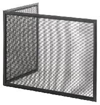 HEIBI Funkenschutz aus Stahl, zweiteilig 1/Stck ,Modell:52247-028 ,Farbe:Schwarz