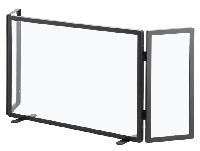 HEIBI Funkenschutz 3-teilig aus Glas 1/Stck