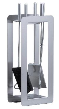 <b>HEIBI</b> Kaminbesteck, Edelstahl, oder Stahl schwarz 4-teilig, 59 cm