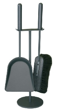 <b>HEIBI</b> Kaminbesteck, steingrau, 2-teilig, 45 cm
