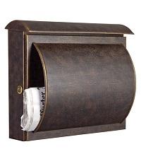 HEIBI Briefkasten QUELO mit Zeitungsfach 1/Stck ,Modell:64234-072 ,Farbe:Edelstahl/Geschliffen