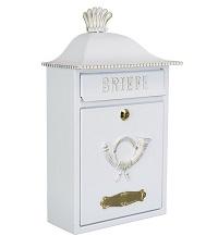 HEIBI Briefkasten MERENO im Landhausstil 1/Stck ,Modell:64063-027 ,Farbe:Schwarz/Gold