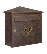 HEIBI Briefkasten PINA 1/Stck ,Modell:64283-028 ,Farbe:Schwarz/Glimmer