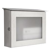 HEIBI Briefkasten PARNO mit Glasfront, Edelstahl 1/Stck ,Modell:64264-072 ,Ausf