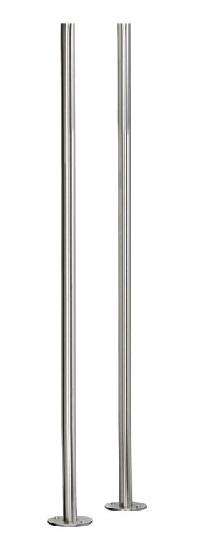 HEIBI Briefkastenständer zum Andübeln 1/Stck ,Modell:64416-072 ,Ausführung:Edelstahl, geschliffen ,Gesamthöhe cm:130