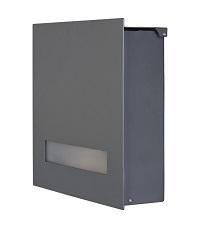 HEIBI Briefkasten FONDALUX 1/Stck ,Modell:64494-036 ,Farbe:Steingrau