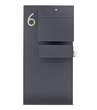 HEIBI Briefkastenständer MURALUX 1/Stck ,Modell:64491-036 ,Farbe:Steingrau