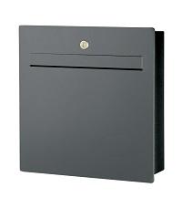 HEIBI Briefkasten SCATALUX 1/Stck ,Modell:64489-036 ,Farbe:Steingrau