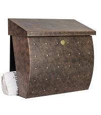 HEIBI Briefkasten KROSIX mit Zeitungsfach 1/Stck  ,Art.-Nr.:64162-010 ,Farbe:Grün/Gold