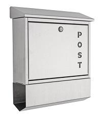 <b>HEIBI</b> Briefkasten mit Zeitungsfach, Edelstahl