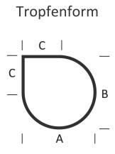 <b>KLEINING</b> Bodenplatte für Kaminofen (Tropfenform)