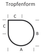 <b>KLEINING</b> Bodenplatte f�r Kaminofen (Tropfenform)