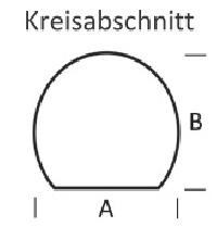 <b>KLEINING</b> Bodenplatte f�r Kaminofen (Kreisabschnitt)