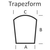 <b>KLEINING</b> Bodenplatte für Kaminofen (Trapezform)