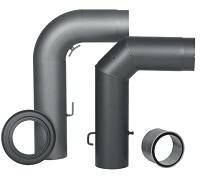 <b>KLEINING</b> Rauchrohre aus Stahl, (Ø  150 mm) innenliegend gemufft