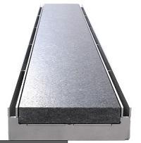 Doppelschlitzrost Gemini Edelstahl (2VA) inkl. Inlet für Steineinlage