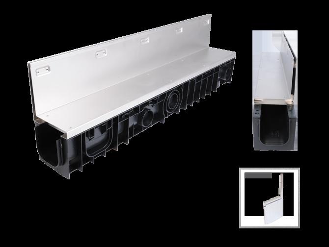 Kunststoffrinne Kufor mit Schwerlast-Schlitzaufsatz (C250)