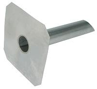 <b>ALTVATER</b> Wasserspeier Aluminium mit glatter Klebeplatte (Rohrlänge 600mm)