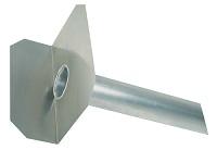 <b>ALTVATER</b> Wasserspeier Alu mit 90° abgewinkelter Klebeplatte (Rohrlänge 800mm)