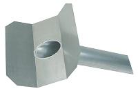 <b>ALTVATER</b> Wasserspeier Alu mit 45° abgewinkelter Klebeplatte (Rohrlänge 800mm)
