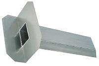 <b>ALTVATER</b> Wasserspeier Rechteckrohr mit 90° abgewinkelter Klebeplatte