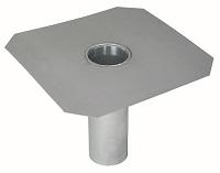 <b>ALTVATER</b> Flachdach-Ablauf Aluminium mit glatter Klebeplatte