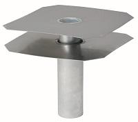 <b>ALTVATER</b> Flachdach-Ablauf Aluminium mit glatter Klebeplatte 2-teilig