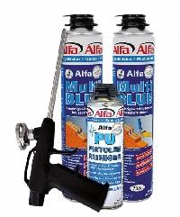 615 Alfa MultiBLUE - MiniSet (MultiBlue Baustoffkleber, Pistole, Reiniger)