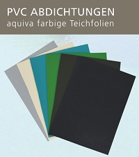 <b>clavis� build it PVC Teichfolie <br></b> farbige PVC Abdichtungen