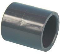 AQUIVA� PVC Doppelmuffe, grau