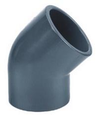 AQUIVA� PVC Winkel 45�, grau