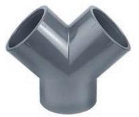 AQUIVA® PVC Y-Stück, grau