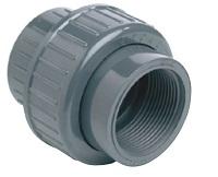 AQUIVA® PVC Verschraubung / Kupplung, grau