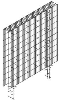 <b>BLICKS PROFESSIONAL</b> Gabionen (Anbaumodul) Tiefe 23cm