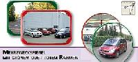 Mehrzweckspiegel Polymir® mit grünem oder rotem Rahmen