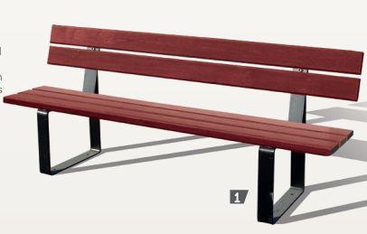 Sitzbank RIGA mit Rückenlehne