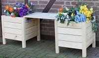 Blumenbank aus Holz