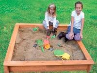 Holz Sandkasten Jonas und Leonie
